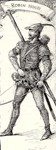 Louis Rhead's wonderful illustration of Robin Hood, courtesy the RH project.