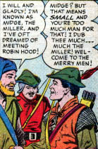 From Rescue of Maid Marian in Robin Hood Tales #2 from Quality Comics, copyright 1956 (currently held by DC Comics). Art by Matt Baker.